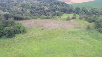 Murawy rezerwatu w 2020r. z widocznym pasem murawy odtwarzanej, źródło: RDOŚ Opole